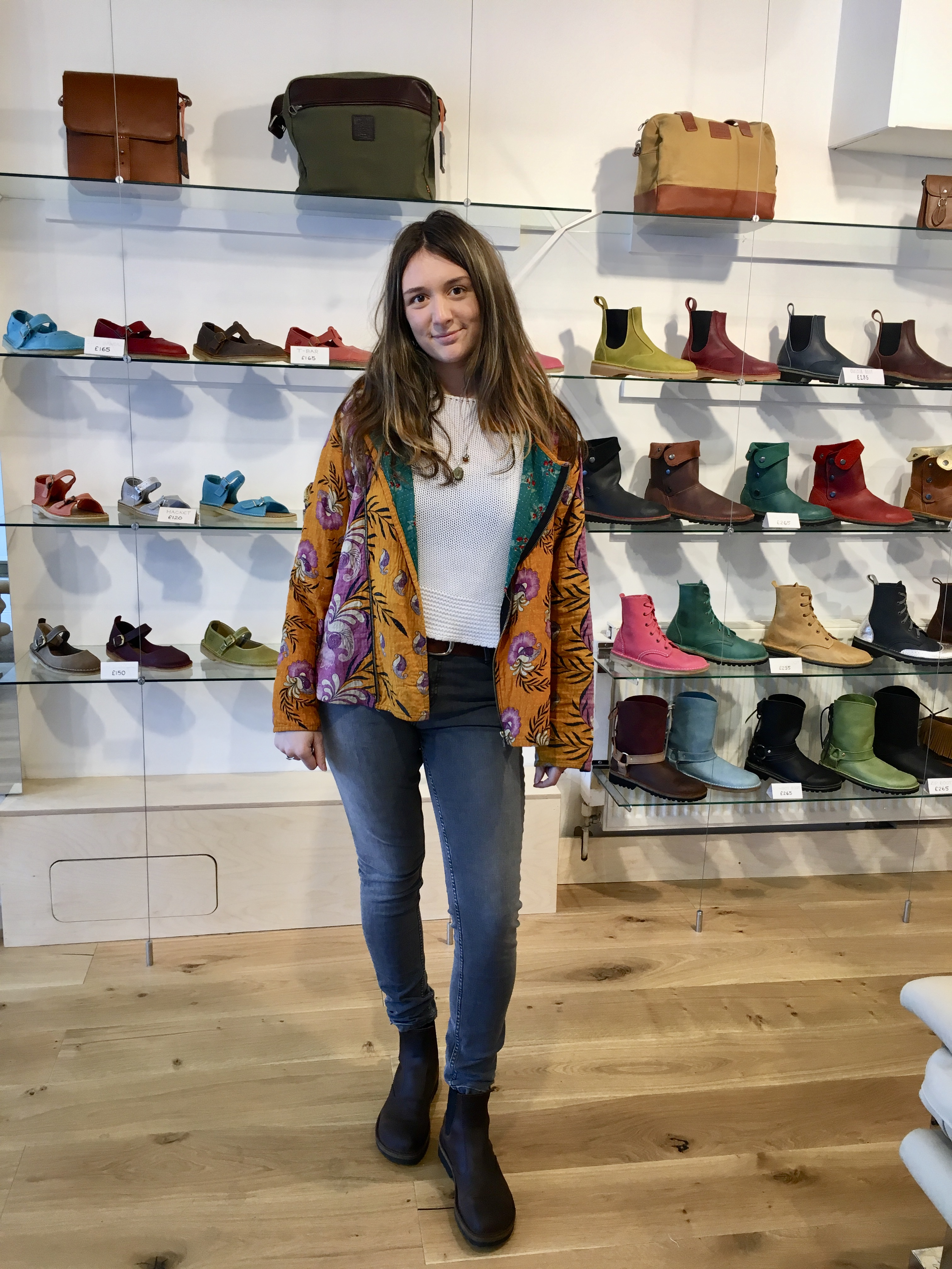 Aimee wearing our Chelsea Boots